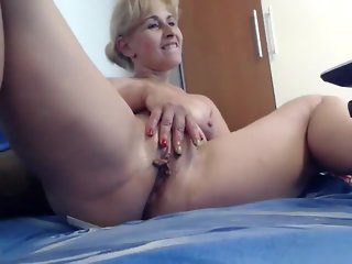 solo female blonde milf