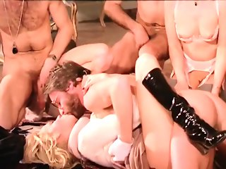 brunette group sex