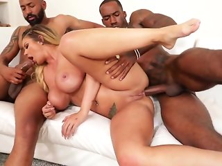 interracial anal double penetration